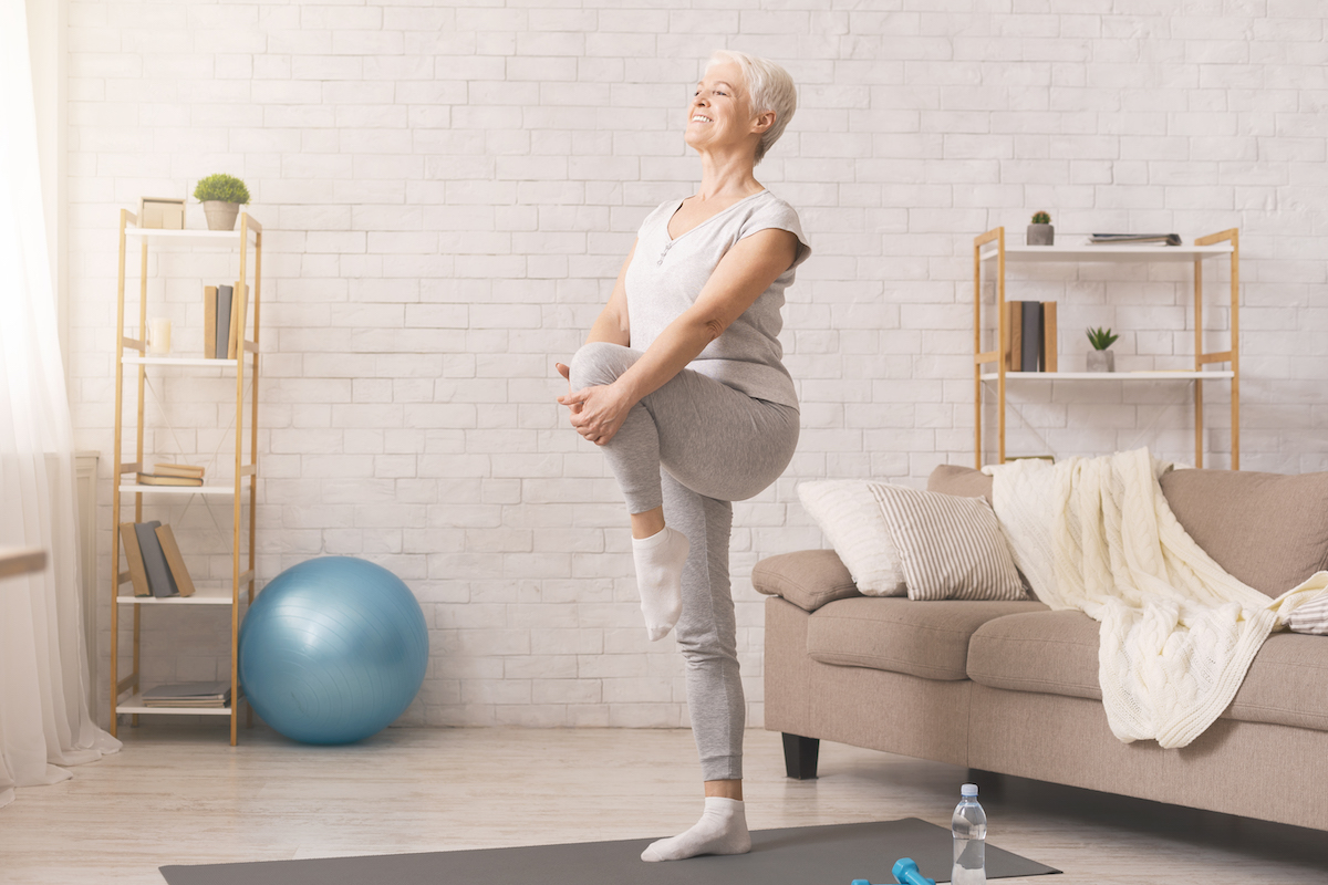 Senior Woman Balance Exercise