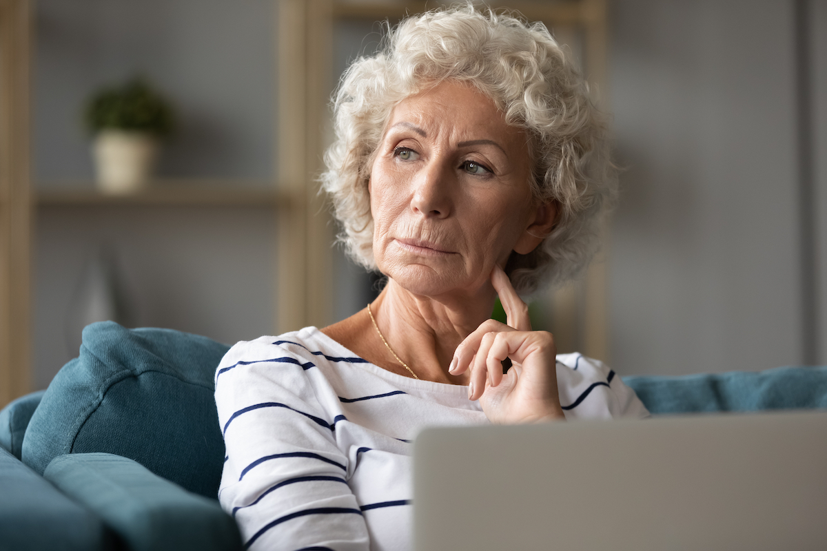 Senior Woman in Thought