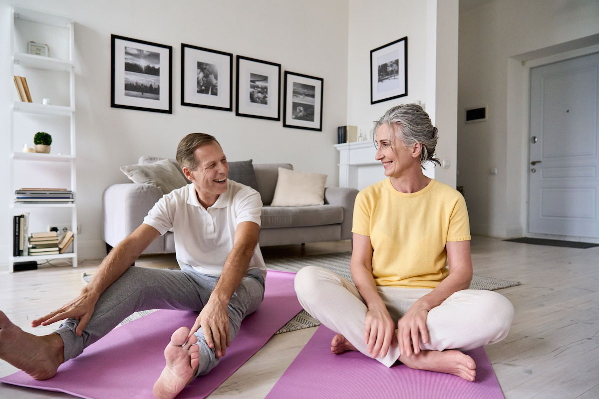 The Pavilion Senior Living - Exercising with a Partner